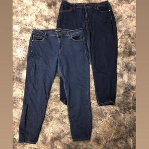 Denim Jeans (ankle length) size 16, used